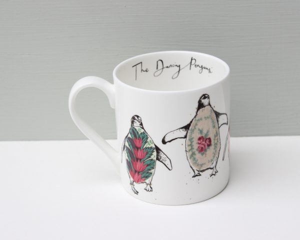 Anna Wright The Dancing Penguins Mug