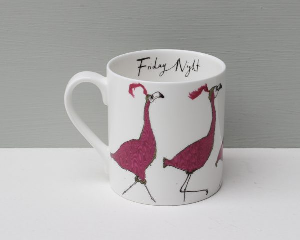 Anna Wright Friday Night Flamingo Mug