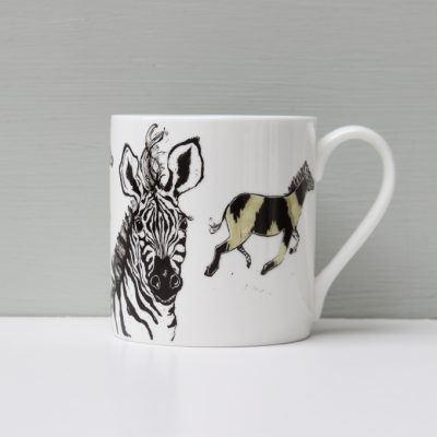 Anna Wright Hot to Trot Zebra Mug