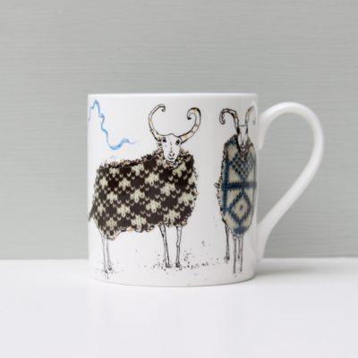 Anna Wright The Knitting Circle Sheep Mug