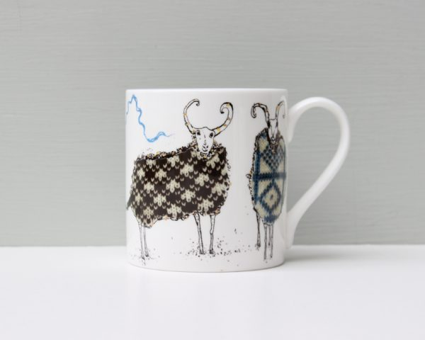 Anna Wright The Knitting Circle Sheep Mug