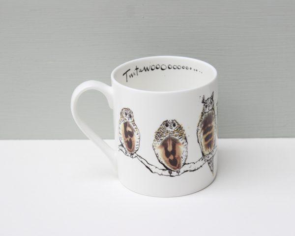 Anna Wright Twitawoooooooo owl mug