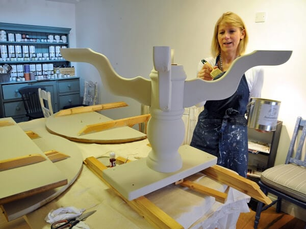 sara hughes furniture painting workshop Marlow