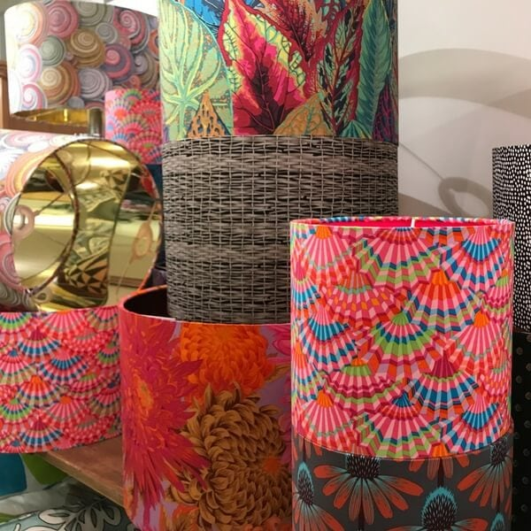 Hand made lampshades by Sara Hughes Marlow