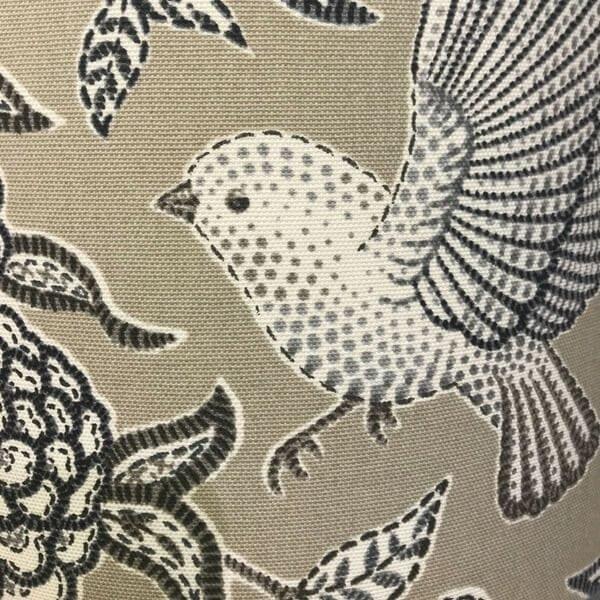 pretty grey birds hand made lampshades by sara hughes