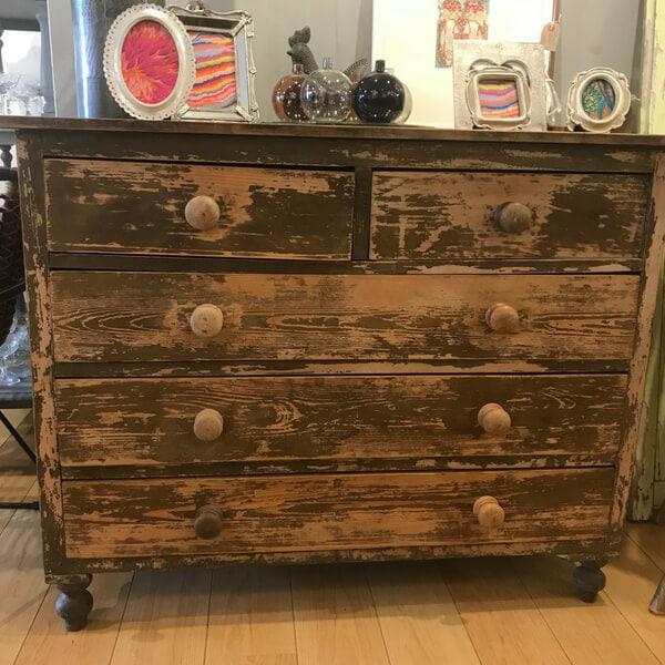 drawers rustic pine