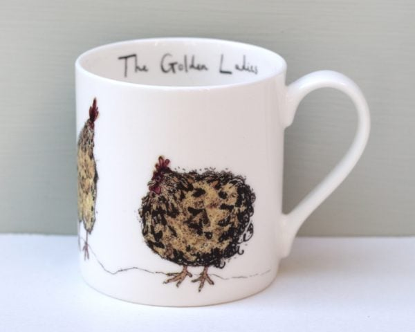 Anna Wright The Golden Ladies Chicken Mug