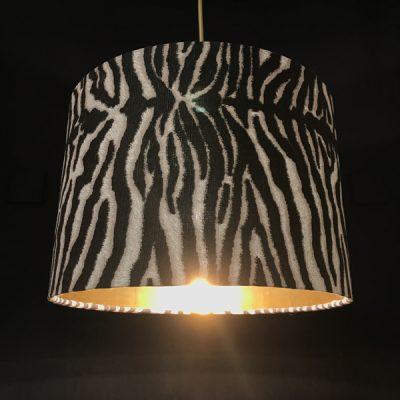 handmade lampshades funky zebra