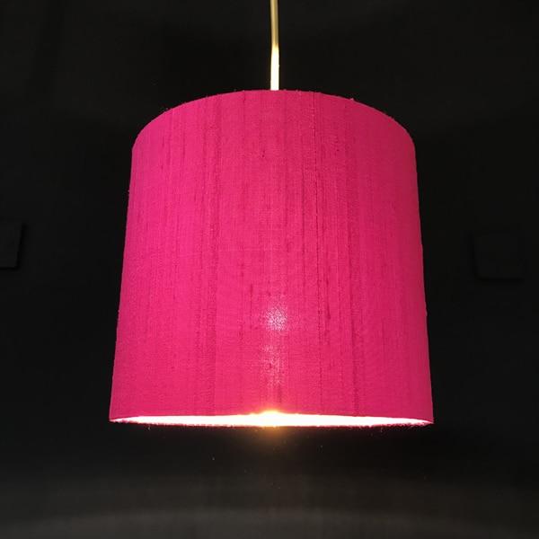 Fuschia Pink Silk Lampshade Sara, Small Fuschia Lamp Shade