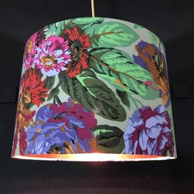 Handmade lampshade purple rose