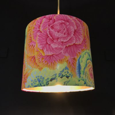 Handmade lampshade yellow an pink floral