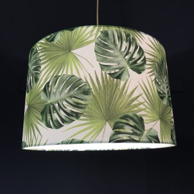 handmade lampshades botanical leaves