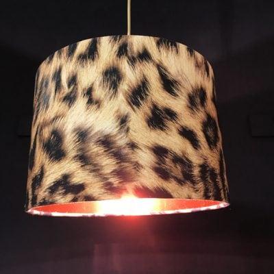 handmade lampshade leopard print