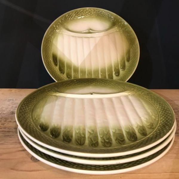 plates, asparagus