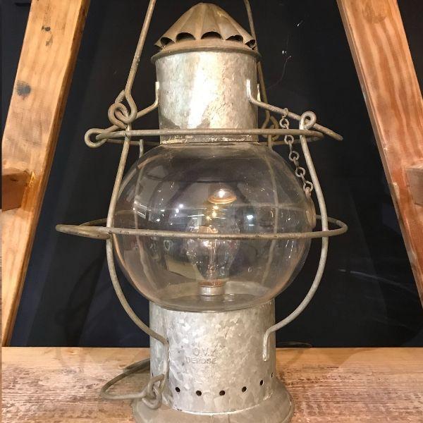 lantern, galvanised, French
