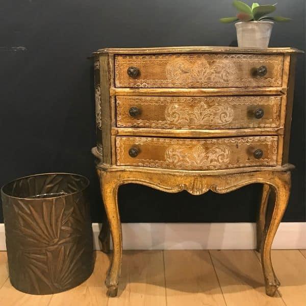 Florentine, drawers, vintage