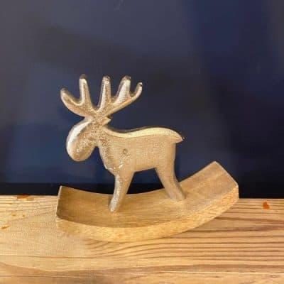 Rocking Silver Reindeer