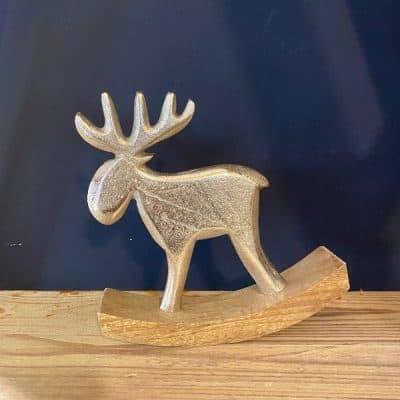 Silver rocking Reindeer