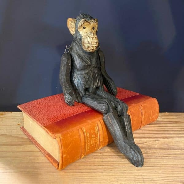 Monkey, carved wood
