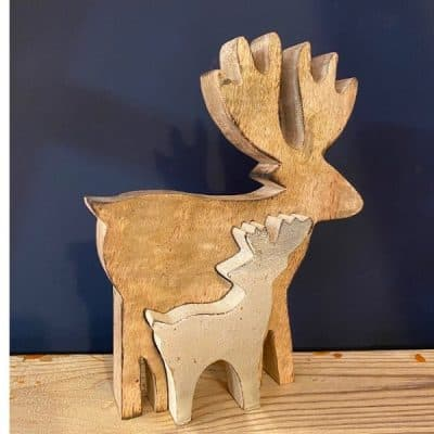Reindeer wooden, christmas decoration
