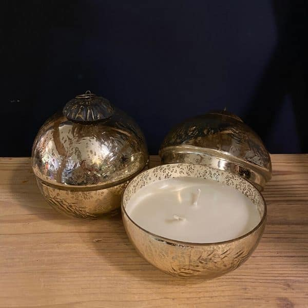 Scented Candle, Glass Bauble