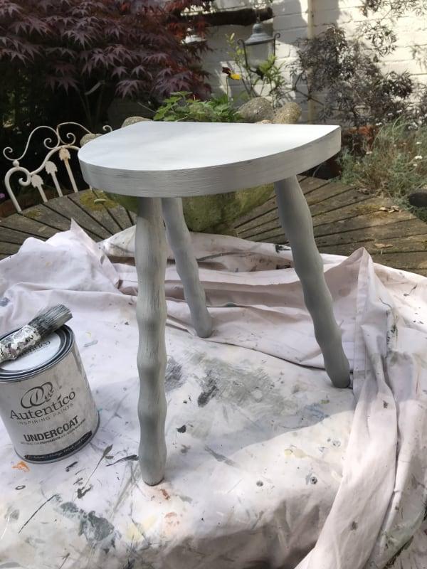 Painted vintage stool Sara hughes