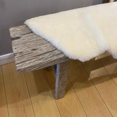 ivory shorthaired sheepskin