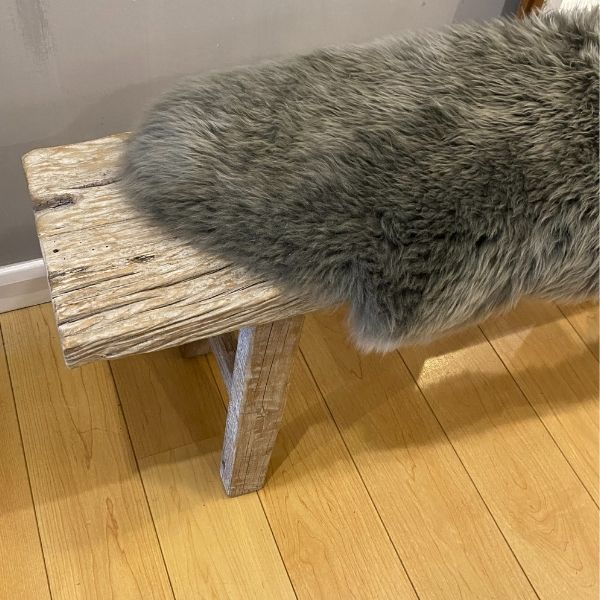 light grey sheepskin
