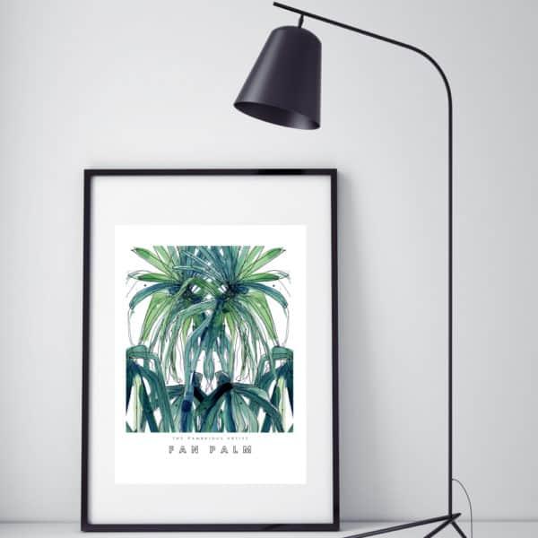 Hambridge Artists Fan Palm art print