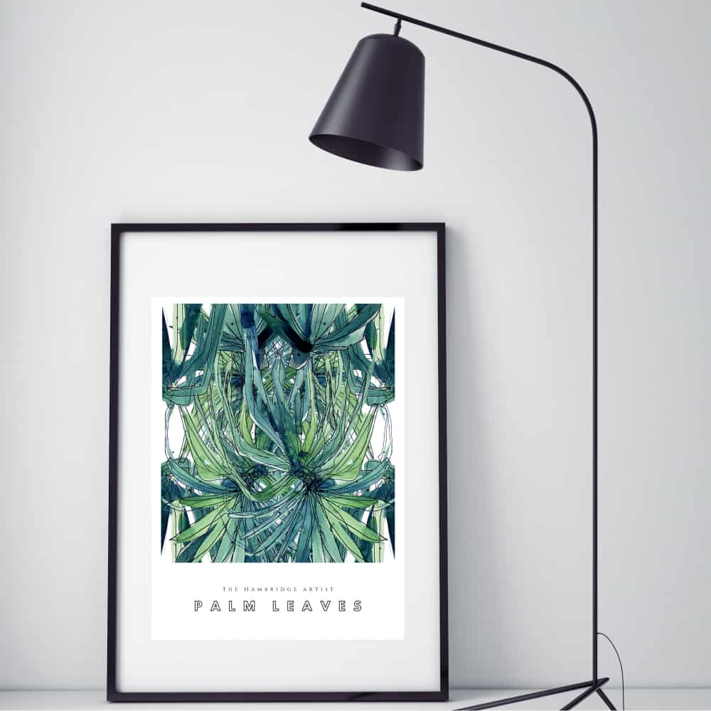 Hambridge Artist palm leaves art print