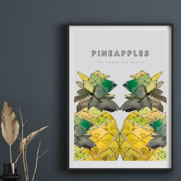 Hambridge Artist Pineapples print