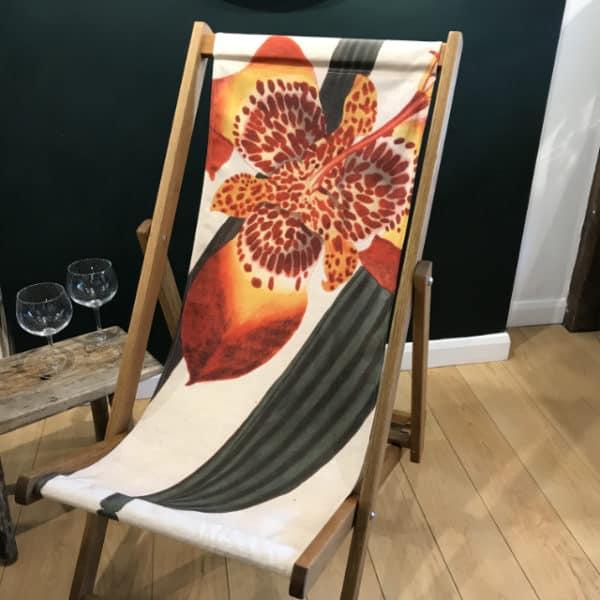 Mexican iris deckchair