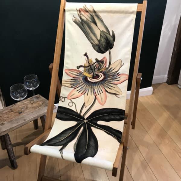 Passion flower deckchair
