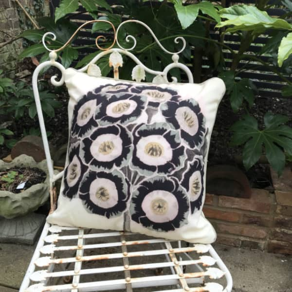 Auricula botanical garden cushion