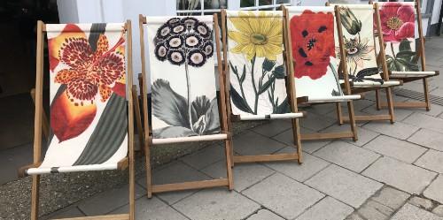 garden botanical deckchairs