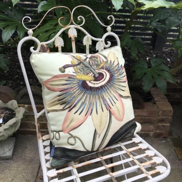 Passion flower outdoor cushion
