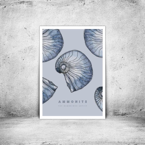 Hambridge Artist ammonite art print