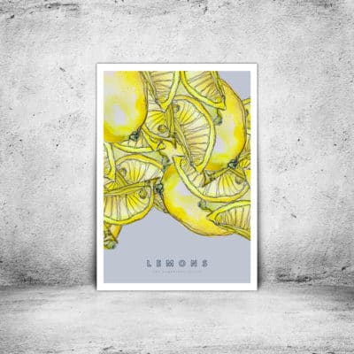 Hambridge Artist lemons art print
