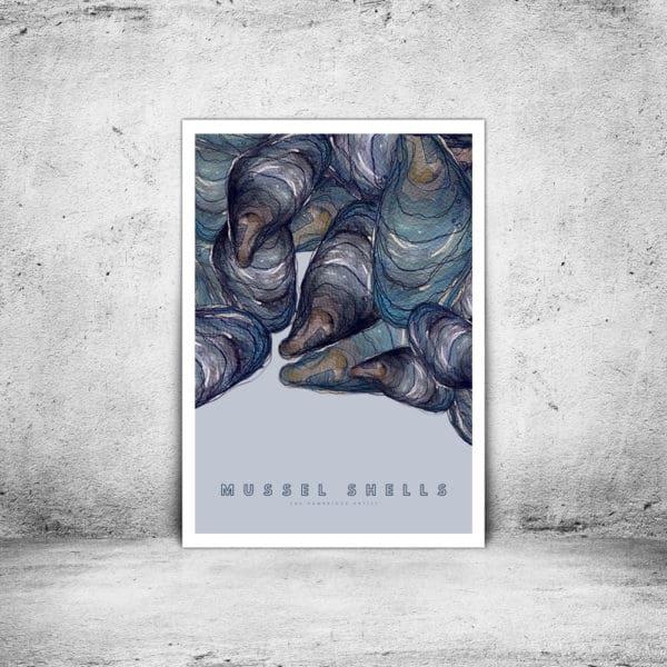 Hambridge Artist mussels art print