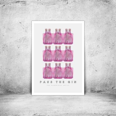 Hambridge Artist pass the gin art print