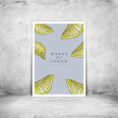 Hambridge Artist wedge of lemon art print