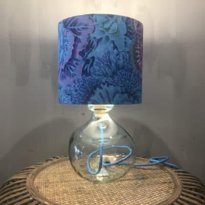 mini clear lamp base with blue flex