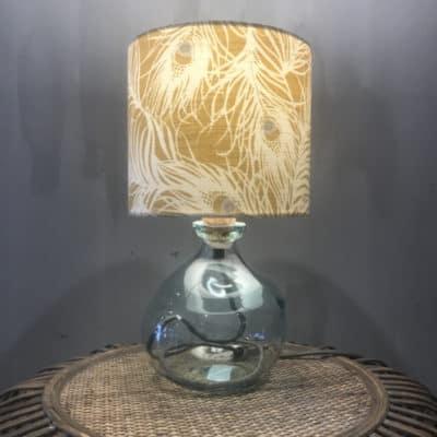 mini clear lamp base with grey flex